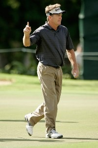 Fred Funk waves to the gallery at the third hole during the second round at the Sony Open in Hawaii held at Waialae Country Club on January 11, 2008 in Honolulu, Hawaii. PGA TOUR - 2008 Sony Open in Hawaii - Second RoundPhoto by Stan Badz/PGA TOUR/WireImage.com