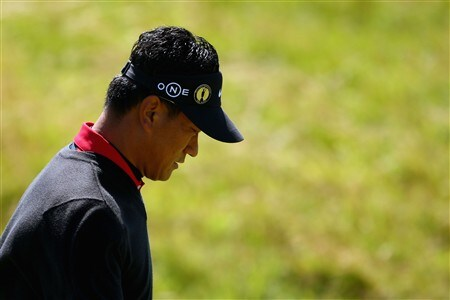 SOUTHPORT, UNITED KINGDOM - JULY 19:  KJ Choi of South Korea walks along the 1st fairway during the third round of the 137th Open Championship on July 19, 2008 at Royal Birkdale Golf Club, Southport, England.  (Photo by Richard Heathcote/Getty Images)