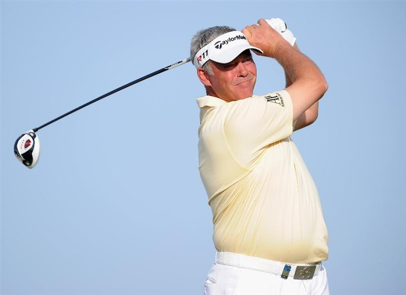 AGADIR, MOROCCO - MARCH 31:  Darren Clarke of Northern Ireland plays a shot during the first round of the Trophee du Hassan II Golf at the Golf du L`Ocean on March 31, 2011 in Agadir, Morocco.  (Photo by Stuart Franklin/Getty Images)