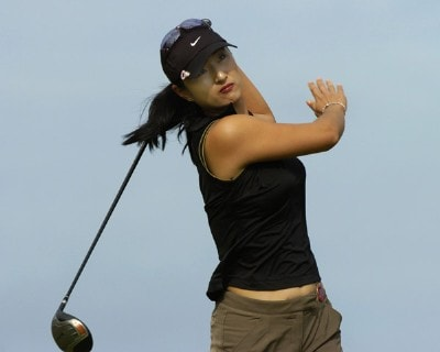 Grace Park  tees off on the second hole in the first round  at the 2006 SBS Open at Turtle Bay in Kahuku, Hawaii on February 16, 2006Photo by Al Messerschmidt/WireImage.com