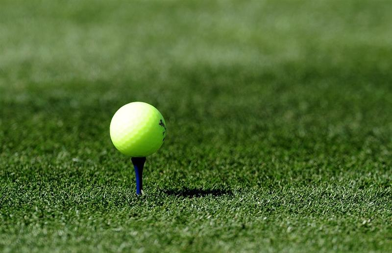 MARANA, AZ - FEBRUARY 18:  The yellow/green golf ball of Tim Clarke of South Africa during round two of the Accenture Match Play Championship at the Ritz-Carlton Golf Club on February 18, 2010 in Marana, Arizona.  (Photo by Stuart Franklin/Getty Images)