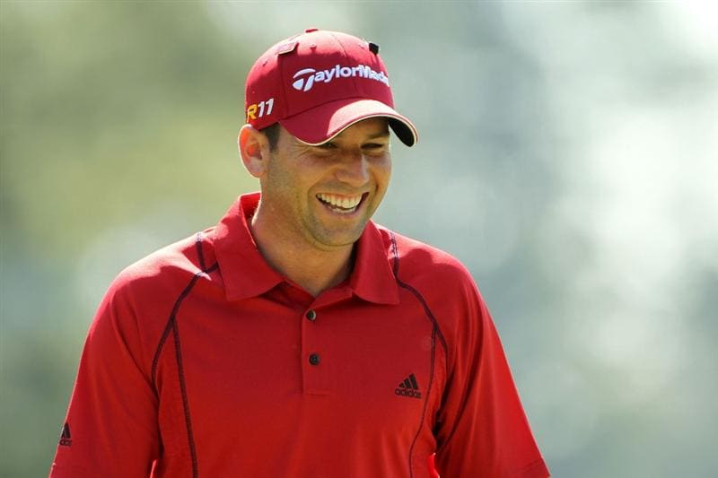 AUGUSTA, GA - APRIL 07:  Sergio Garcia of Spain walks across the first green during the first round of the 2011 Masters Tournament at Augusta National Golf Club on April 7, 2011 in Augusta, Georgia.  (Photo by Jamie Squire/Getty Images)