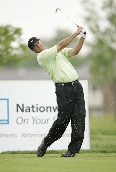 Chris Couch follows his tee shot during the final round of the LaSalle Bank Open being held at the The Glen Club in Glenview, Illinois on June 12, 2005.Photo by Mike Ehrmann/WireImage.com