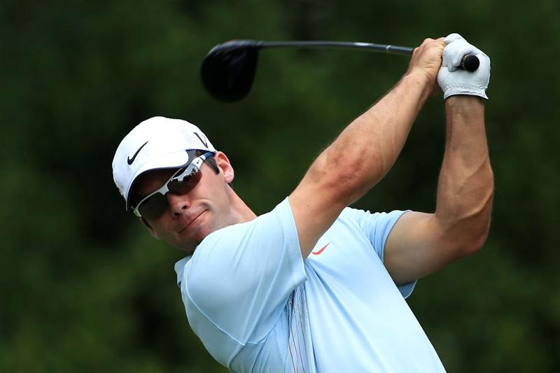 PONTE VEDRA BEACH, FL - MAY 13:  Paul Casey of England hits his tee shot on the 11th hole during the second round of THE PLAYERS Championship held at THE PLAYERS Stadium course at TPC Sawgrass on May 13, 2011 in Ponte Vedra Beach, Florida.  (Photo by Streeter Lecka/Getty Images)