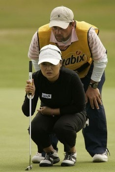 Jeong Jang reads a putt during the final round of the 2005 Weetabix Women's British Open at the Royal Birkdale Golf Club. July 31, 2005Photo by Pete Fontaine/WireImage.com