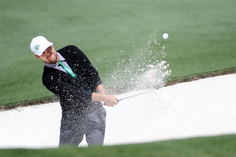 AUGUSTA, GA - APRIL 11:  Ryan Moore plays a bunker a shot on the second hole during the final round of the 2010 Masters Tournament at Augusta National Golf Club on April 11, 2010 in Augusta, Georgia.  (Photo by Harry How/Getty Images)