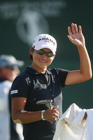 PRATTVILLE, AL - OCTOBER 2:  Yani Tseng waves after completing her second round play in the Navistar LPGA Classic at the Robert Trent Jones Golf Trail at Capitol Hill on October 2, 2009 in  Prattville, Alabama.  (Photo by Dave Martin/Getty Images)