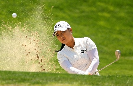 HUIXQUILUCAN, MEXICO - MARCH 15:  Jeong Jang of South Korea plays a bunker shot on the 12th hole during the second round of the MasterCard Classic at Bosque Real Country Club on March 15, 2008 in Huixquilucan, Mexico.  (Photo by Scott Halleran/Getty Images)