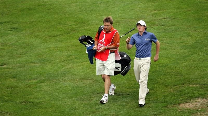 CRANS, SWITZERLAND - SEPTEMBER 06:  Rory McIlroy of Northern Ireland on the par four 12th hole during the third round the Omega European Masters at the Golf Club Crans-sur-Sierre on September 6, 2008 in Crans, Switzerland.  (Photo by Ross Kinnaird/Getty Images)