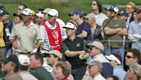 David Toms defeated Chris DiMarco to win the 2005 WGC Accenture Match Play Championship, February 27, 2005, held at La Costa Resort and Spa, Carlsbad, Ca.