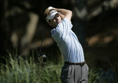 Brad Faxon hits from the second tee during the second round of the 2007 Verizon Heritage Classic at Harbour Town Golf Links in Hilton Head Island on April 13, 2007 in Hilton Head, South Carolina. PGA TOUR - 2007 Verizon Heritage - Second RoundPhoto by Steve Grayson/WireImage.com