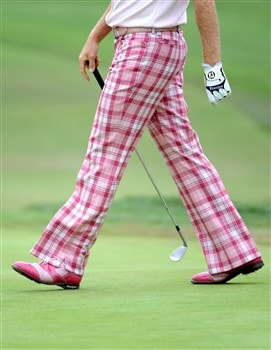 SAN DIEGO - JUNE 13:  Ian Poulter of England walks on the first green during the second round of the 108th U.S. Open at the Torrey Pines Golf Course (South Course) on June 13, 2008 in San Diego, California.  (Photo by Harry How/Getty Images)