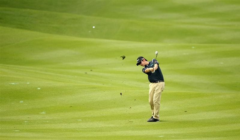 KUALA LUMPUR, MALAYSIA - APRIL 13:  Noh Seung-Yul of South Korea in action during a practice round ahead of the Maybank Malaysian Open at Kuala Lumpur Golf & Country Club on April 13, 2011 in Kuala Lumpur, Malaysia.  (Photo by Ian Walton/Getty Images)