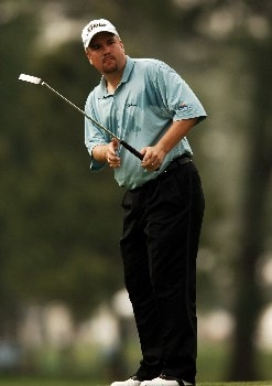 Craig Barlow chips to the first green during the second round of the 2005 Shell Houston Open, at the Redstone Golf Club in Houston, Texas April 22, 2005.Photo by Steve Grayson/WireImage.com