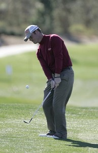 Tag Ridings chips on the 8th hole during the second round of the Bob Hope Chrysler Classic held at The Classic Club in Palm Desert, California on Thursday, January 19, 2006.Photo by Sam Greenwood/WireImage.com