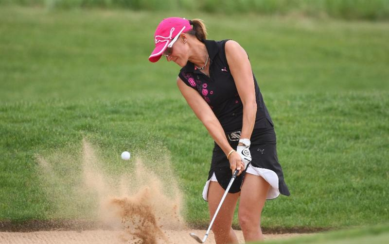 MUNICH, GERMANY - MAY 24:  Paula Marti of Spain plays an bunker shot on the 12th hole during the final day of the HypoVereinsbank Ladies German Open 2009 at Gut Haeusern on May 24, 2009 in Munich, Germany.  (Photo by Alexander Hassenstein/Bongarts/Getty Images)