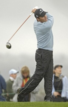 Thomas Levet of France during the third round of the 2005 Algarve World Cup at the Victoria Golf Club in Vilamoura, Portugal on November 19, 2005.Photo by Sandy Young/WireImage.com