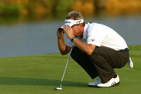 Philip Golding (GBR) prepares a shot on the 15 during the fourth and final round of the Open de France as part of the European PGA circuit at St Quentin near Paris, France 26 JUNE 2005Photo by Alexanderk/WireImage.com