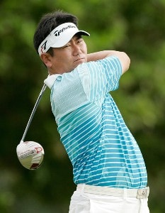 Y.E. Yang hits his drive at the first tee box during the first round at the Sony Open in Hawaii held at Waialae Country Club on January 10, 2008 in Honolulu, Hawaii. PGA TOUR - 2008 Sony Open in Hawaii - First RoundPhoto by Stan Badz/PGA TOUR/WireImage.com