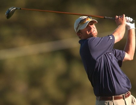Chris M. Anderson hits from the 17th tee during the final round of The 2005 INTERNATIONAL at Castle Pines Country Club in Castle Rock, Colorado August 7, 2005.Photo by Steve Grayson/WireImage.com
