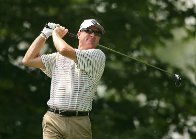 Steve Flesch on the 2nd hole during the third round of The Barclays, the inaugural event of the new PGA TOUR Playoffs for the FedExCup at Westchester Country Club on August 25, 2007 in Harrison, New York. PGA TOUR - 2007 The Barclays - Third RoundPhoto by M. Ehrmann/WireImage.com