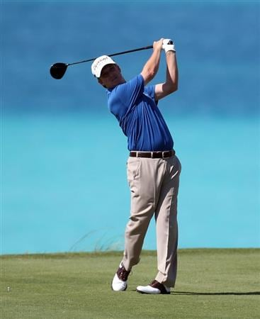 SOUTHAMPTON, BERMUDA - OCTOBER 19:  David Toms of the USA on the 9th tee during the first round of the 2010 PGA Grand Slam of Golf at The Port Royal Golf Course on October 19, 2010 in Southampton, Bermuda.  (Photo by Ross Kinnaird/Getty Images)