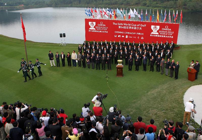 SHENZHEN, CHINA - NOVEMBER 26:  A general view  during the opening ceremony of the Omega Mission Hills World Cup at the Mission Hills Resort on November 26, 2008 in Shenzhen, China.  (Photo by Stuart Franklin/Getty Images)