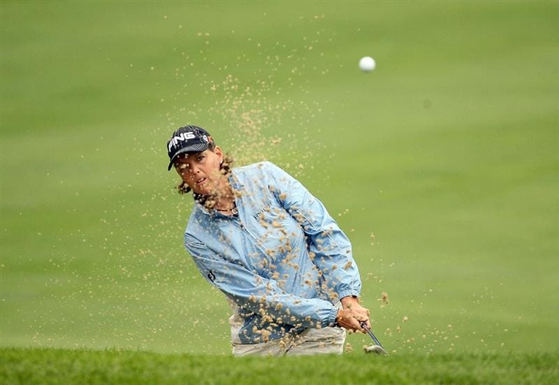 HAVRE DE GRACE, MD - JUNE 11:  Wendy Ward hits her fourth shot on the 2nd hole during the first round of the McDonald's LPGA Championship at Bulle Rock Golf Course on June 11, 2009 in Havre de Grace, Maryland.  (Photo by Andy Lyons/Getty Images)