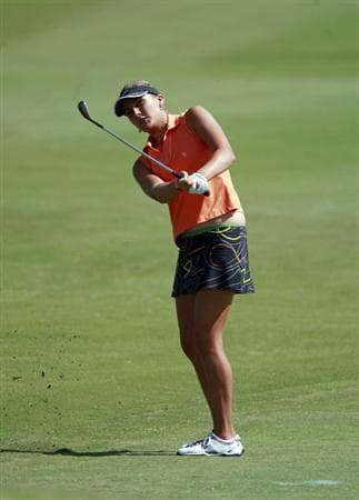 PRATTVILLE, AL - OCTOBER 1: Amateur Alexis Thompson to the eighth hole during first round play in the Navistar LPGA Classic at the Robert Trent Jones Golf Trail at Capitol Hill on October 1, 2009 in  Prattville, Alabama.  (Photo by Dave Martin/Getty Images)
