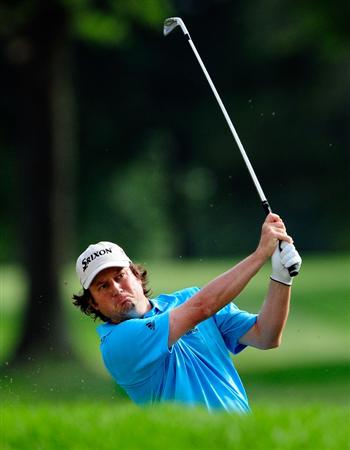 AKRON, OH - AUGUST 07:  Tim Clark of South Africa plays a shot on the ninth hole during the second round of the WGC-Bridgestone Invitational on the South Course at Firestone Country Club on August 7, 2009 in Akron, Ohio.  (Photo by Sam Greenwood/Getty Images)