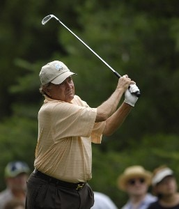 Raymond Floyd during the first round of the Commerce Bank Championship on the Red Course at Eisenhower Park in East Meadow, New York, on June 23, 2006.Photo by Steve Levin/WireImage.com