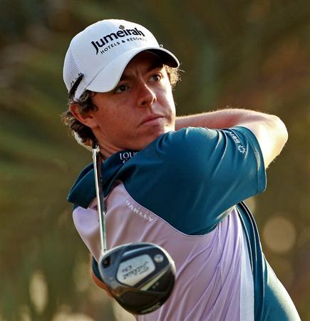 ABU DHABI, UNITED ARAB EMIRATES - JANUARY 23:  Rory McIlroy of Northern Ireland in action during the final round of The Abu Dhabi HSBC Golf Championship at Abu Dhabi Golf Club on January 23, 2011 in Abu Dhabi, United Arab Emirates.  (Photo by Andrew Redington/Getty Images)