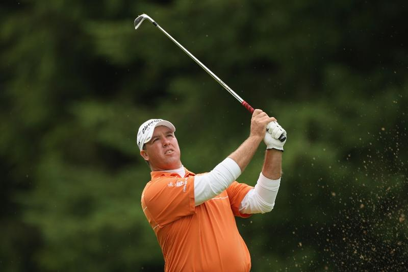 LUSS, SCOTLAND - JULY 09:  Boo Weekley of USA hits an approach shot during the First Round of The Barclays Scottish Open at Loch Lomond Golf Club on July 09, 2009 in Luss, Scotland.  (Photo by Warren Little/Getty Images)
