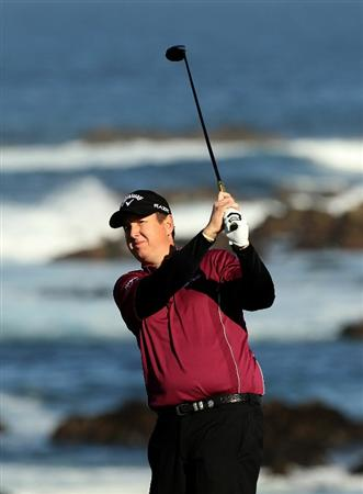 PEBBLE BEACH, CA - FEBRUARY 11:  J.J. Henry tees off on the 13th hole during the second round of the AT&T Pebble Beach National Pro-Am at Monterey Peninsula Country Club on February 11, 2011 in Pebble Beach, California.  (Photo by Ezra Shaw/Getty Images)