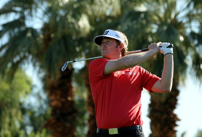 LA QUINTA, CA - JANUARY 19:  Brandt Snedeker hits his tee shot on the third hole during round one of the Bob Hope Classic at the Palmer Private Course at PGA West on January 19, 2011 in La Quinta, California.  (Photo by Stephen Dunn/Getty Images)