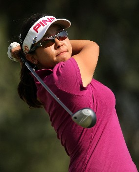 HUIXQUILUCAN, MEXICO - MARCH 16: Jane Park of the USA hits her tee shot on the 18th hole during the final round of the MasterCard Classic at Bosque real Country Club on March 16, 2008 in Huixquilucan, Mexico  (Photo by Scott Halleran/Getty Images)
