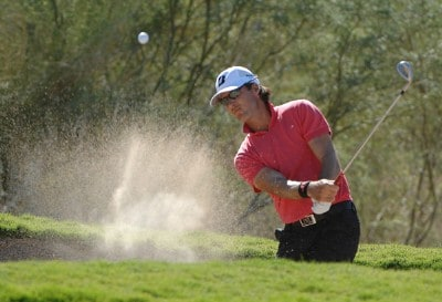 Will MacKenzie blasts out of the fairway bunker on the eighth hole during the first round of the Fry's Electronics Open at Grayhawk Golf Club October 18, 2007 in Scottsdale, Arizona. PGA TOUR - 2007 Frys Electronics Open - First RoundPhoto by Marc Feldman/WireImage.com