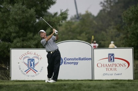 Pete Oakley on the 11th hole during the final round of the Constellation Energy Classic being held at Hayfields Country Club in Hunt Valley, Maryland on September 18, 2005.Photo by Mike Ehrmann/WireImage.com