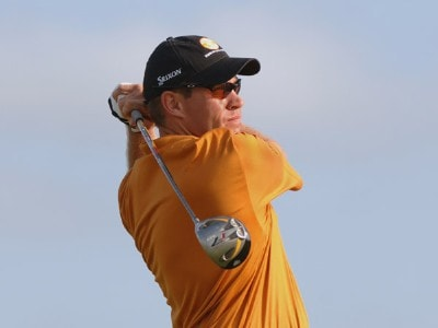 Brian Davis  on the first tee during the final round of  the 2006 Honda Classic March 12 at the Country Club at Mirasol in Palm Beach Gardens, Florida.Photo by Al Messerschmidt/WireImage.com