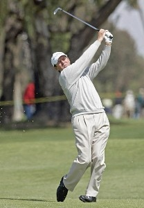 Des Smyth in action during the first round of the Toshiba Classic, March 17, 2006, held at Newport Beach Country Club, Newport Beach, California. Photo by Gregory Shamus/WireImage.com