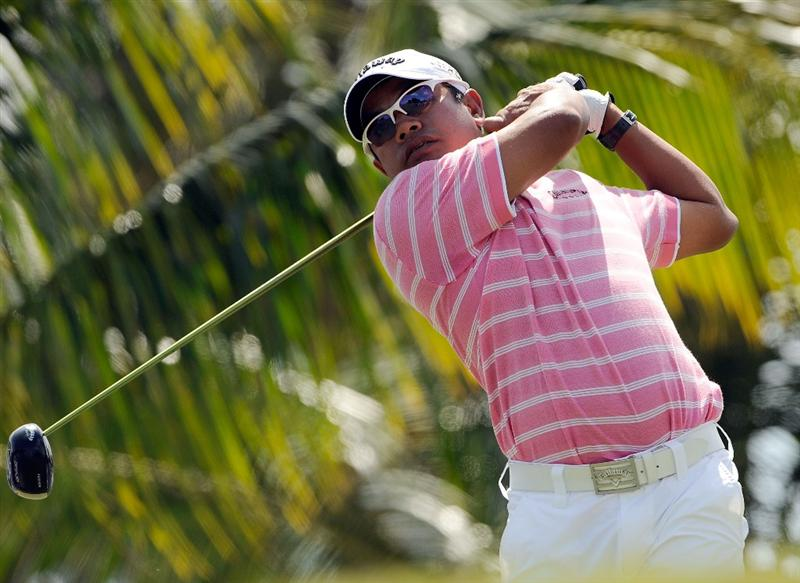 DORAL, FL - MARCH 14:  Prayad Marksaeng of Thailand hits a shot on the 3rd hole during the third round of the World Golf Championships-CA Championship at the Doral Golf Resort & Spa on March 14, 2009 in Doral, Florida.  (Photo by Sam Greenwood/Getty Images)