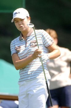 Hee-Won Han putts on the ninth green during the third round of the 2005 Jamie Farr Owens Corning Classic at the Highland Meadows Golf Club in Sylvania, Ohio on July 9, 2005.Photo by Al Messerschmidt/WireImage.com
