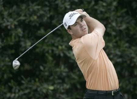 Arron Oberholser tees off on the first hole during the final round of the 2005 U.S. Open Golf Championship at Pinehurst Resort course 2 in Pinehurst, North Carolina on June 19, 2005.Photo by S. Badz/WireImage.com