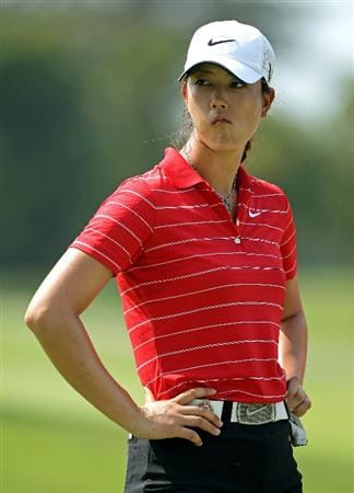 SINGAPORE - FEBRUARY 28:  Michelle Wie of the USA waits to play on the seventh hole during the final round of the HSBC Women's Champions at the Tanah Merah Country Club on February 28, 2010 in Singapore.  (Photo by Andrew Redington/Getty Images)