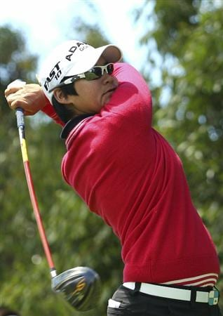 MELBOURNE, AUSTRALIA - FEBRUARY 06:  Yani Tseng of Taiwan plays a shot of the tee during day four of the Women's Australian Open at The Commonwealth Golf Club on February 6, 2011 in Melbourne, Australia.  (Photo by Lucas Dawson/Getty Images)