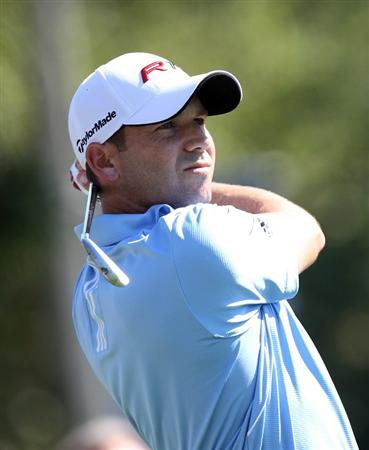 PALM HARBOR, FL - MARCH 19:  Sergio Garcia of Spain plays a shot on the 12th hole during the third round of the Transitions Championship at Innisbrook Resort and Golf Club on March 19, 2011 in Palm Harbor, Florida.  (Photo by Sam Greenwood/Getty Images)