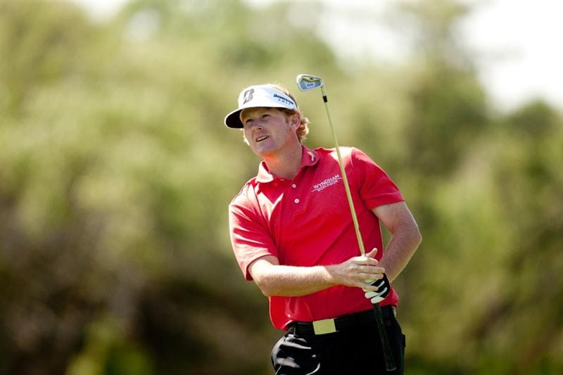 SAN ANTONIO, TX - APRIL 15: Brandt Snedeker follows through on an approach shot during the second round of the Valero Texas Open at the AT&T Oaks Course at TPC San Antonio on April 15, 2011 in San Antonio, Texas. (Photo by Darren Carroll/Getty Images)