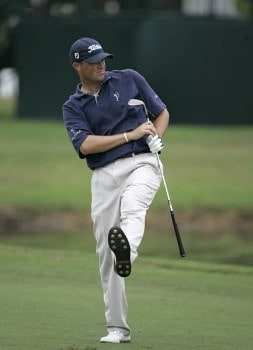 Ryan Palmer during the final round of the Funai Classic held on the Magnolia course at Walt Disney World Resort in Lake Buena Vista, Florida  on Sunday, October 23, 2005.Photo by Sam Greenwood/WireImage.com
