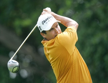 Omar Uresti in action during the second round of The Byron Nelson Championship at the TPC course in Irving, Texas.  May 13, 2005.Photo by Scott Clarke/WireImage.com