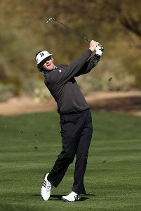 Brandt Snedeker hits his second shot on the second hole during the first round of the FBR Open on January 31, 2008 at TPC of Scottsdale in Scottdsdale, Arizona. PGA TOUR - 2008 FBR Open - Round OnePhoto by Stephen Dunn/Getty Images